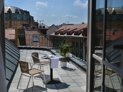EA Hotel Royal Esprit**** - double room with Prague Old Town view terrace - terrace